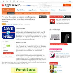 French - Lessons app review: a language learning app that promises to teach you French
