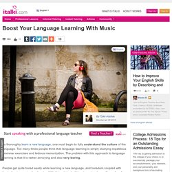Boost Your Language Learning With Music - English learning article
