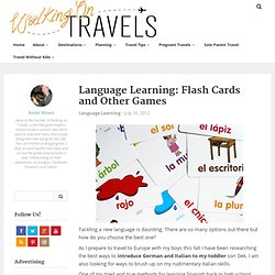 Language Learning: Flash Card and Other Games
