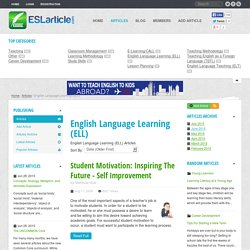 English Language Learning (ELL) - ESL Articles