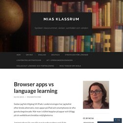 Browser apps vs language learning