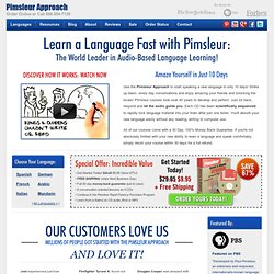 Learn a Language in 10 Days - Language Learning CDs | Pimsleur Approach™