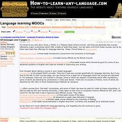 Language learning MOOCs (Language Programs, Books & Tapes) Language Learning Forum