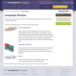 Language-Learning Quizzes