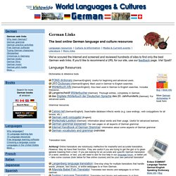 German Links - German Language Learning Resources Online - German Culture Resources - Websites on German Language & Culture