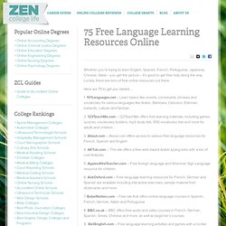 75 Free Language Learning Resources Online