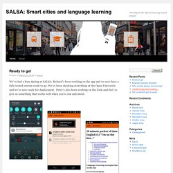 The blog for the Open University SALSA project