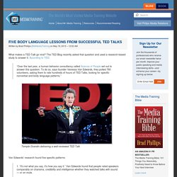 Five Body Language Lessons From Successful TED Talks