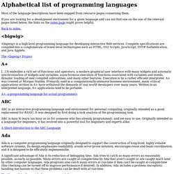 Language list