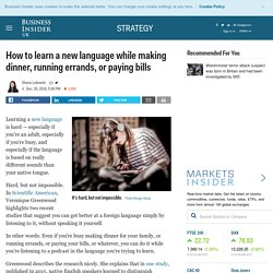An easier way to learn a language? This is what research says