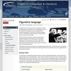Figurative language - Key concepts - IB English A: Language & Literature