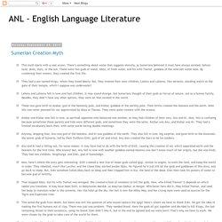 ANL - English Language Literature: September 2013