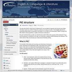 IB English A: Language & Literature: PIE structure