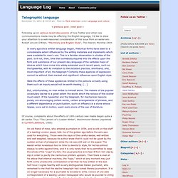 Telegraphic language