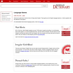 Language Games – Macmillan Dictionary