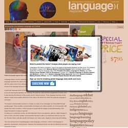Language Magazine Blurring the Line between Language and Culture