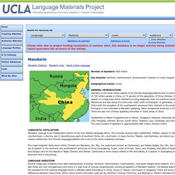 Language Materials Project: Language Profile