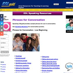 conversation phrases and expressions for speaking practice