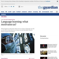 Language learning: what motivates us?