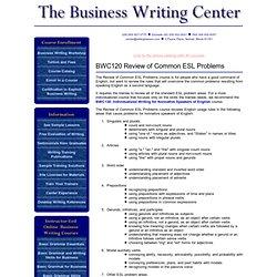 English Language and Grammar for Nonnative ESL English Speakers
