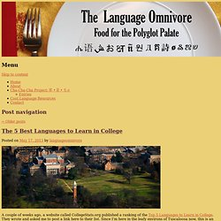 Language Omnivore | Food for Polyglot Palates