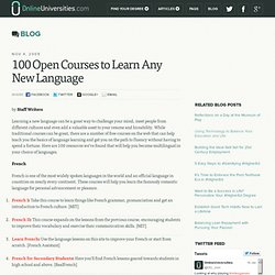 100 Open Courses to Learn Any New Language