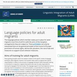 Politiques linguistiques en faveur des migrants