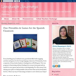 Free Printables & Games for the Spanish Classroom