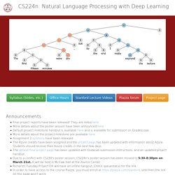 CS224n: Natural Language Processing with Deep Learning