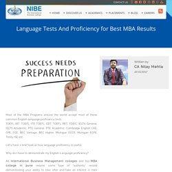 Language Tests And Proficiency for Best MBA Results - NIBE