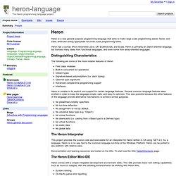 heron-language - The Heron programming language project