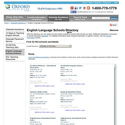 List of over 33,163 English Language Schools & ESL Programs Worldwide