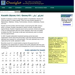 Kazakh language, alphabet and pronunciation
