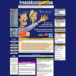 Learn French online FREE with French language lessons and unique question generator!
