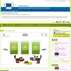 Language Quiz - European Commission