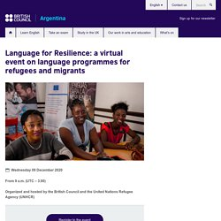 Language for Resilience: a virtual event on language programmes for refugees and migrants
