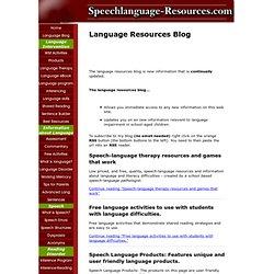 Language Resources Blog