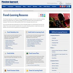 Learn French Online - Free French Learning Resources | Pimsleur Approach™