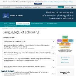 Language(s) of schooling