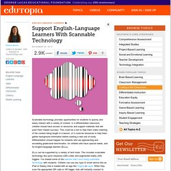 Support English-Language Learners with Scannable Technology