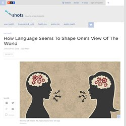 How Language Seems To Shape One's View Of The World