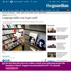 Language skills: way to get a job?