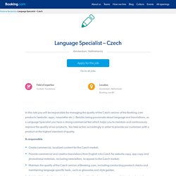 Language Specialist - Czech - Working at Booking.com