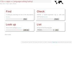 Language subtag lookup app (Un outil officieux de recherche de sous-étiquettes de langues permet un usage simplifié du registre IANA)