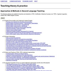 English language teaching methods and approaches