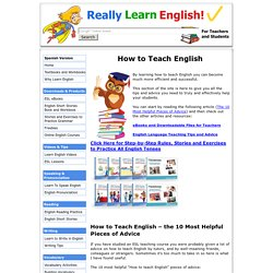 How to Teach English – English Language Teaching Articles