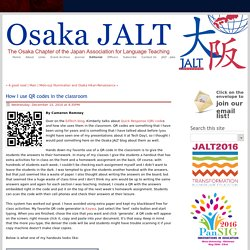 Osaka JALT Language Teaching in Osaka Japan - The latest news and opions about language teaching - How I use QR codes in the classroom