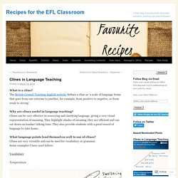 Recipes for the EFL Classroom