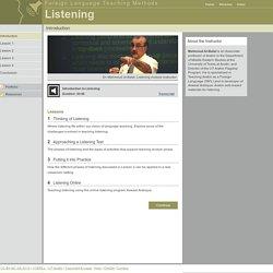 Foreign Language Teaching Methods: Listening