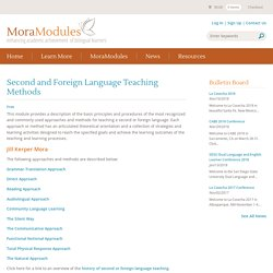 Principles of L2 Teaching Methods and Approaches